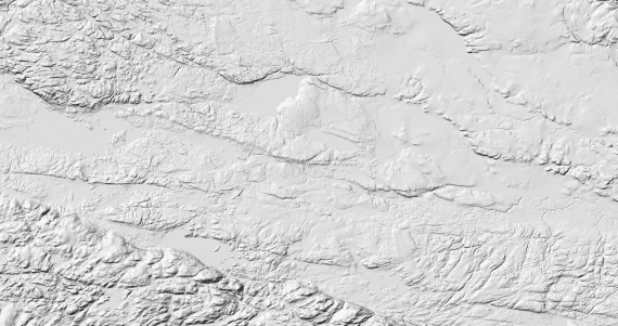Hillshade created with GDAL 2.2x of Frank Warmerdam's home area in Canada.